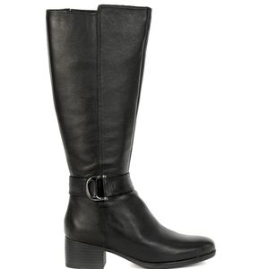 NWOB NATURALIZER Kelso black leather tall boots
